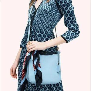 Kate Spade Margaux Large pebble crossbody blue